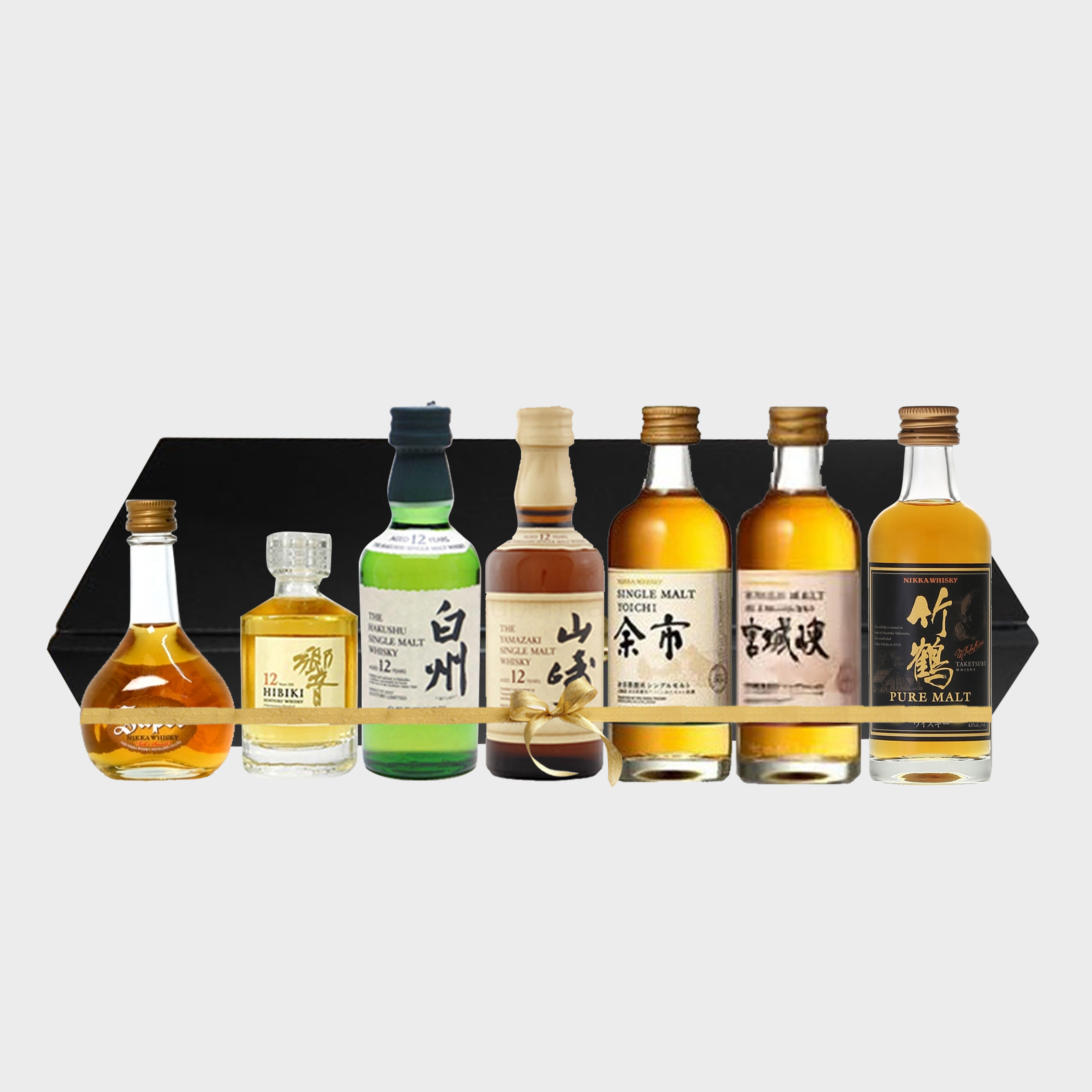 japanese whisky miniature gift set 7 bottles japanese whisky dekant. Black Bedroom Furniture Sets. Home Design Ideas