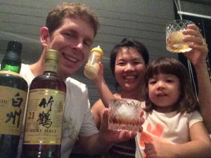 A family toast from Singapore!  Love the bottle!