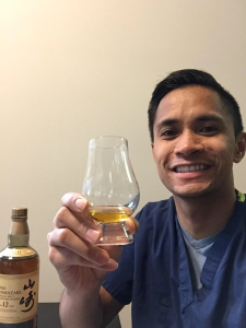 Albert in New York toasts Yamazaki