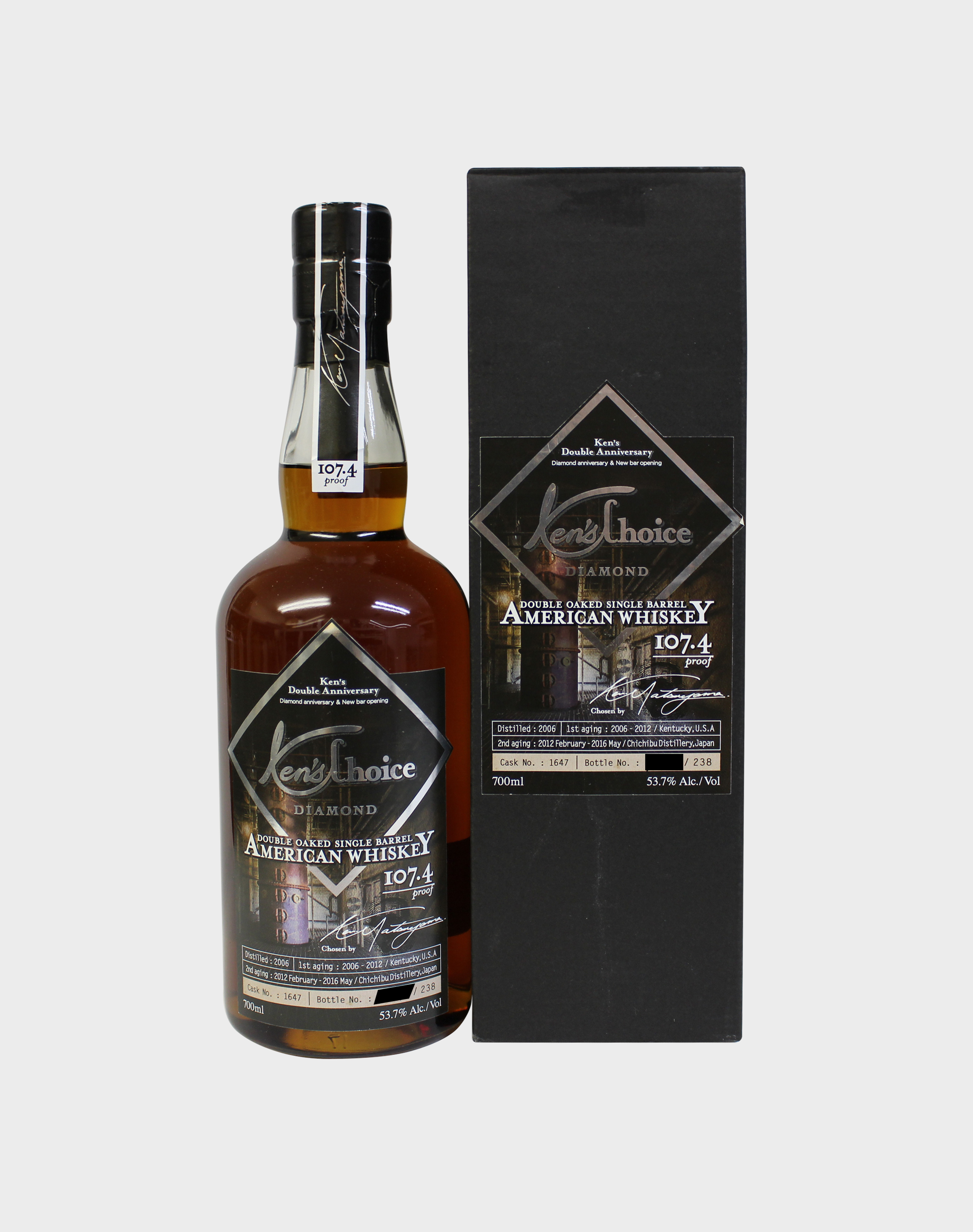 Ichiro's Malt Ken's Choice Diamond American Whisky Double Anniversary