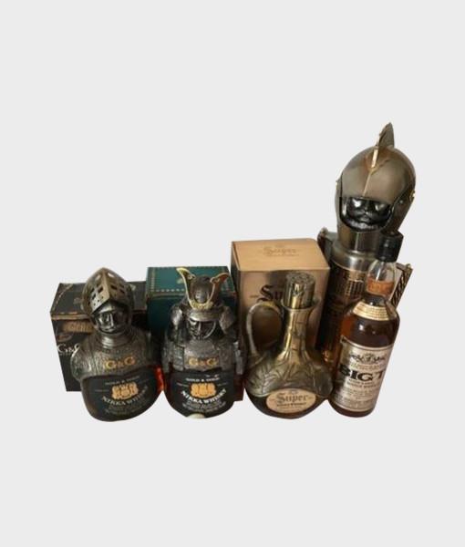 Nikka G&G Whisky Warlord Armor Figure Bottle Set