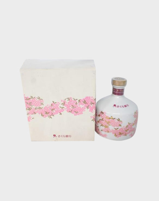 Suntory Sakura Bank Pottery Bottle (with Box)