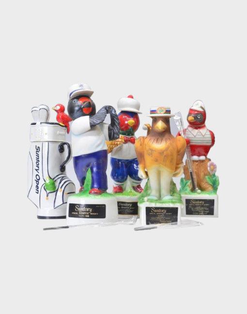 Suntory Open Golf Memorial Bottle Whisky - Pottery Bird Set