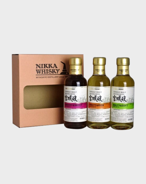 Nikka Miyagikyo Single Malt Set (3 Bottles) 180ml