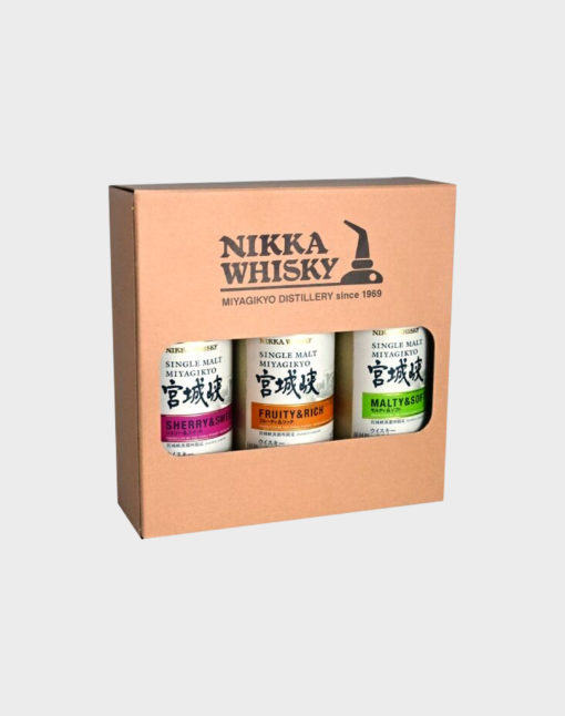 Nikka Miyagikyo Single Malt Set (3 Bottles) 180ml (3)