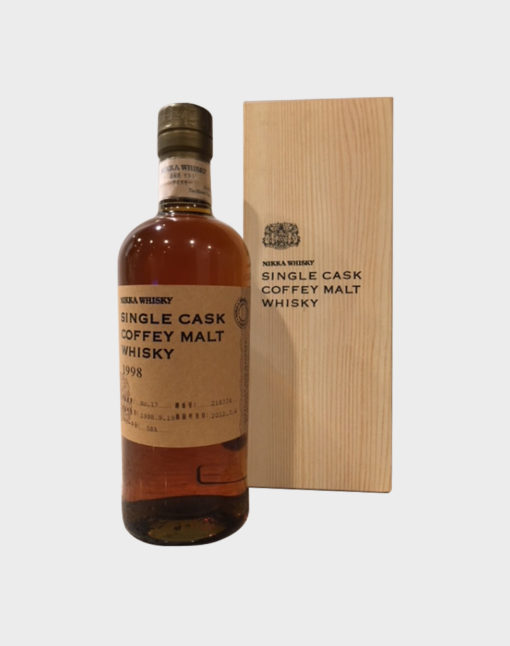 Nikka Single Cask Coffey Malt Whisky 1998 with Wooden Box