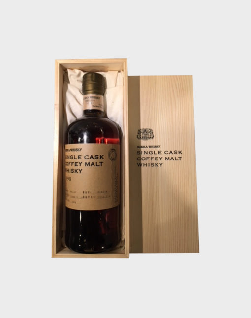 Nikka Single Cask Coffey Malt Whisky 1998 with Wooden Box (2)