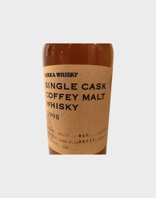 Nikka Single Cask Coffey Malt Whisky 1998 with Wooden Box (3)