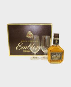 Kirin Seagram Emblem Whisky Set With Glasses
