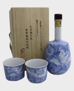 Hibiki 30 Years Old - Kutaniyaki Blue Flower Phoenix with Wooden Box