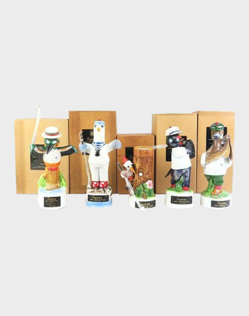 Suntory Open Golf Memorial Bottle Whisky – Pottery Bird Set# 3