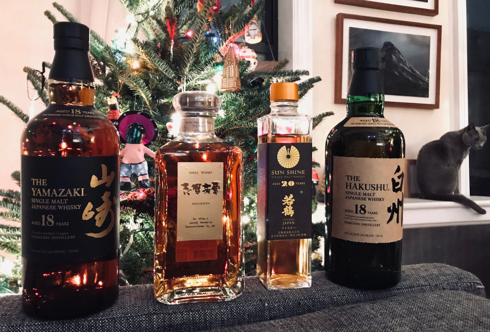 Christmas Japanese Whisky from Ryan in Brooklyn New York Featuring Suntory and Nikka