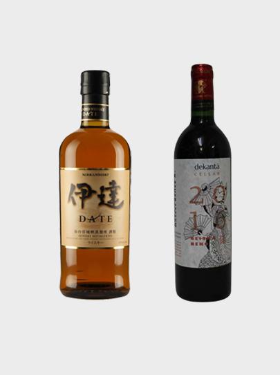 Nikka Date Whisky + Geisha Neko Wine