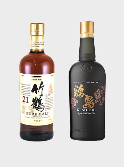 "Taketsuru 21 Year Old + KI NO ""TOU"" Kyoto Old Tom Gin"
