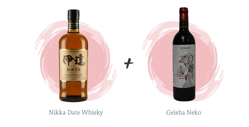 Nikka Date Whisky + Geisha Neko
