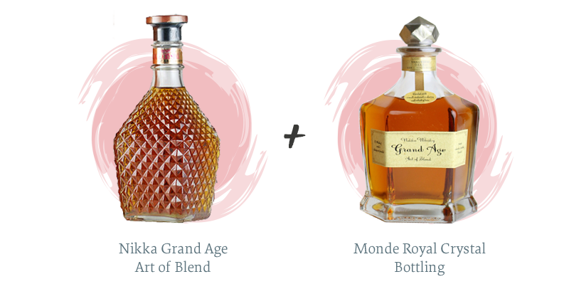 Nikka Grand Age Art of Blend + Monde Royal Crystal Bottling