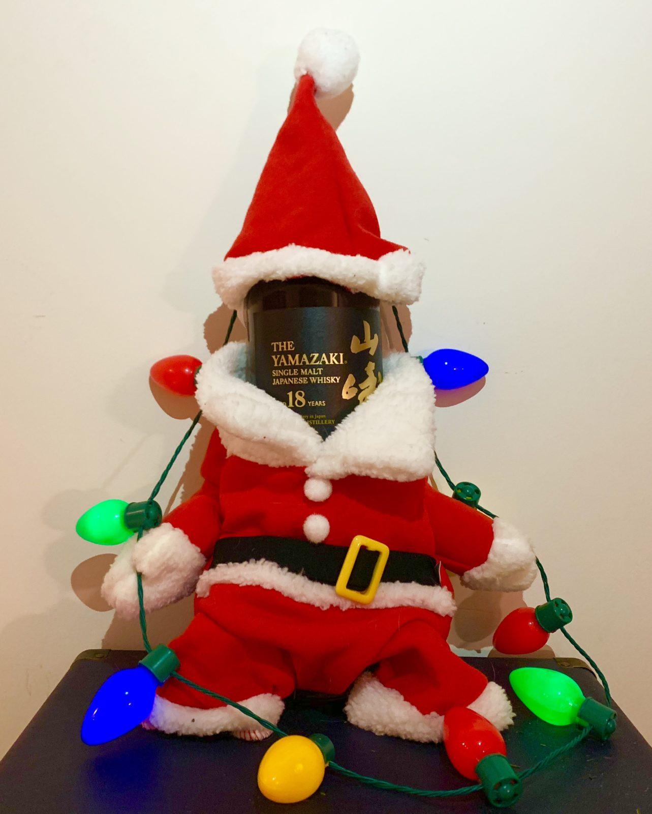 Photo of Yamazaki 18 Whisky in Santa Costume from David in New York