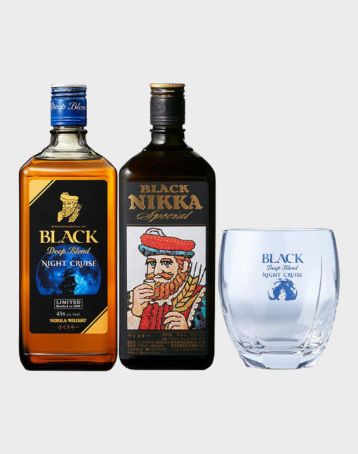 Nikka Black and Night Cruise Set with Glass