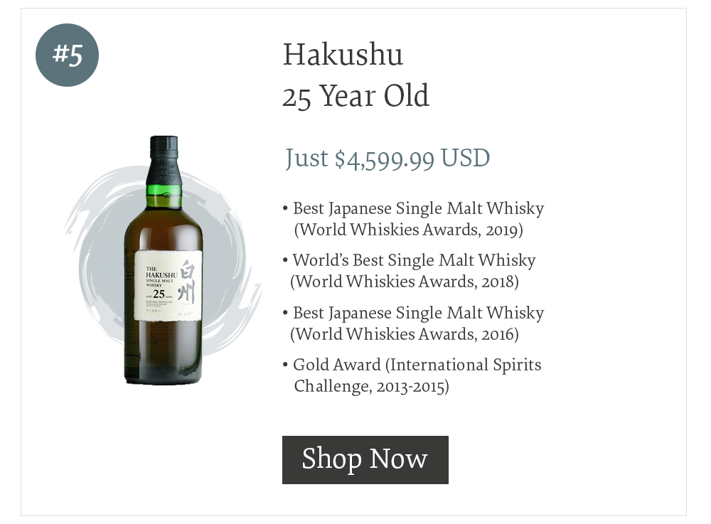 #5 Hakushu 25 Year Old