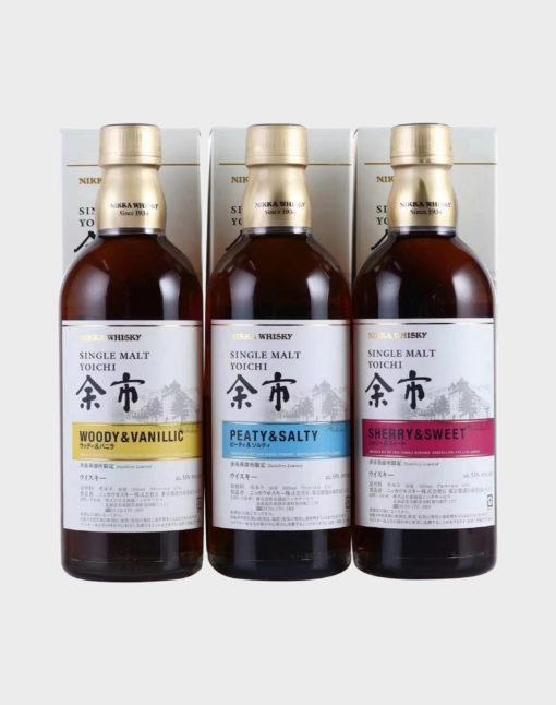 Nikka Yoichi Single Malt 3 Bottle Set