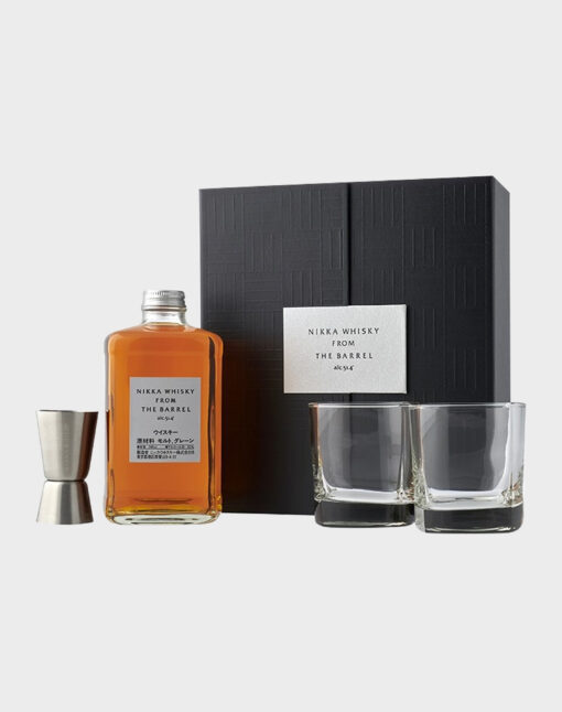 Nikka Whisky from the Barrel Gift Set - 2 Glasses & Jigger