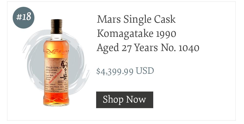 Mars Single Cask Komagatake 1990 Aged 27 Years No. 1040